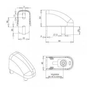 Schéma du kit gond et carénage étroit aluminium laqué