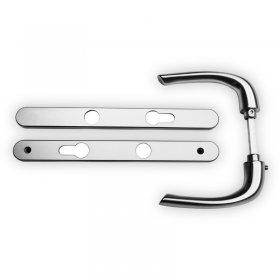 Kit poignées et plaques aluminium anodisé Zen, entraxe 70 mm, carré de 7 mm