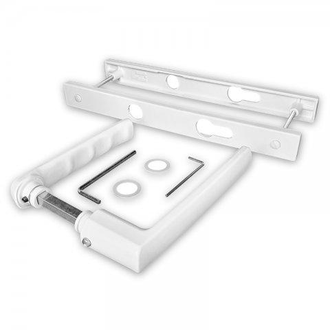 Kit poignées réduites et plaques blanches Boston, entraxe 70 mm, carré de 7 mm