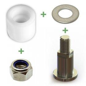 Kit web accessoires équerre (axe, rondelle, douille, écrou frein)